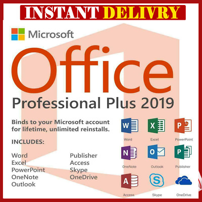 Microsoft Office 2019 Professional Plus ✅- Official Download Fast Delivery🔥