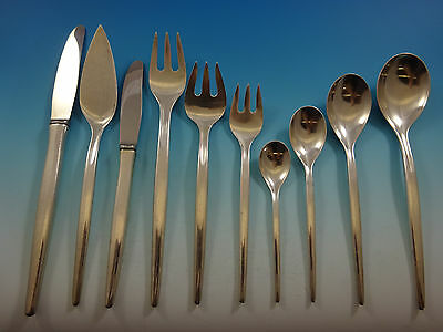Tulip by A. Michelsen Sterling Silver Flatware Set Service Scandinavian Modern