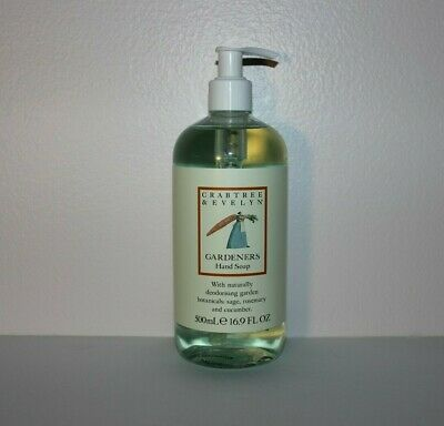 New Crabtree and Evelyn Gardeners Hand Soap 16.9 oz