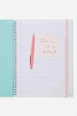 Typo Unisex A4 Spinout Notebook - 120 Pages Journals & Notebooks  In  Pink
