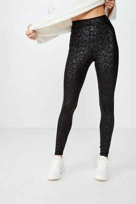 Cotton On Womens Chelsea High Waisted Legging Jersey Bottoms  In  Black
