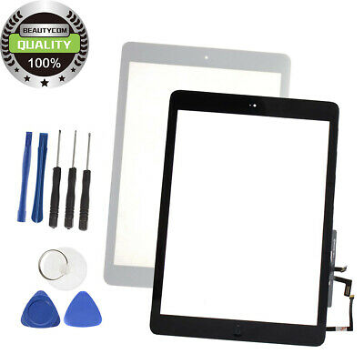 Screen Glass Digitizer Replacement for iPad Air 1 a1474 a1475 a1476 Black/White
