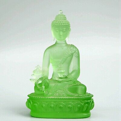 Collect Old Coloured Glaze Hand-Carved Buddhism Kwan-Yin Moral Exorcism Statue