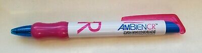 New RARE Ambien CR HOT PINK GEL Ink Pen Drug Rep Pharmaceutical Collectible