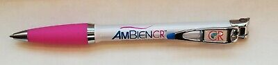 New RARE Metal AMBIEN CR Ink Pen Flipable Stylus Drug Rep Pharmaceutical