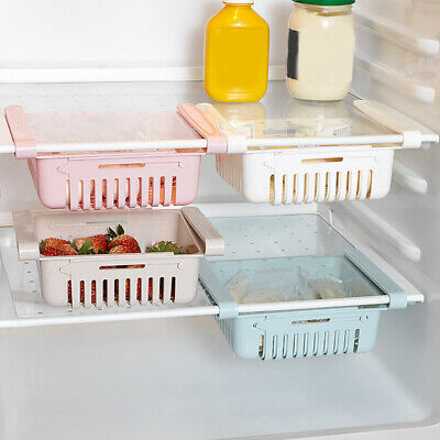 Refrigerator Drawer Style Food Storage Box Kitchen Plastic Fruit Snack Container