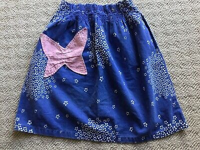 Girls Size 6-7-8 Big by Fiona Scanlan 100% Cotton Skirt with Butterfly motif EUC