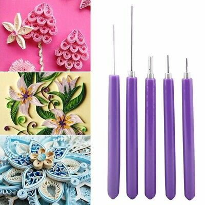 5pcs Multifunction Quilling Slotted Needle Pen Tool Kit Scrapbook Paper Craft