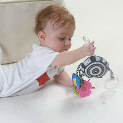 Cartoon White Cloth Book Car Hanging Rattle Infant Sleeping Soothing Toys SI