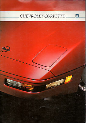 Catalogue brochure CHEVROLET CORVETTE 1992 allemand