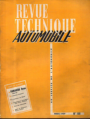 RTA revue technique automobile N°155 PANHARD DYNA