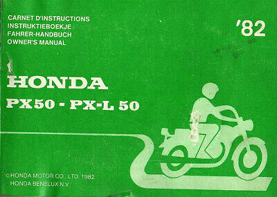 Carnet d'instruction HONDA PX50 PX 50 L 1982