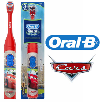 Oral-B Stage Power For Kids Disney Cars Battery Electric Toothbrush With Timer