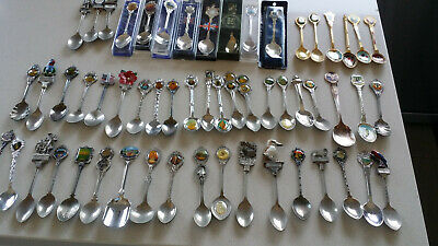 Teaspoon collection of 56 items good condition