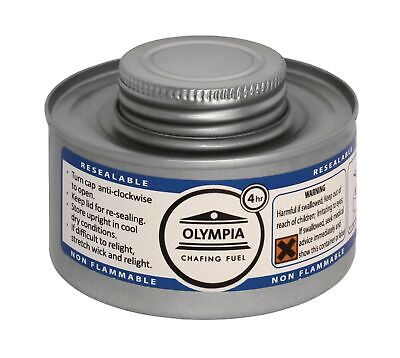 Olympia CB734 Chafing Liquid Fuel, 4 hour, Silver (Pack of 12) .
