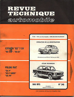 RTA revue technique automobile  n° 345 POLSKI FIAT 125 P SUPER PX 1975