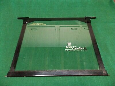 Ronco Showtime 3000 TB compact rotisserie BBQ oven glass door replacement. Black