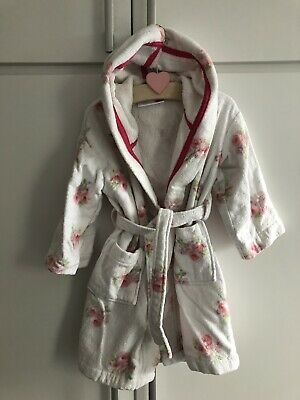 Gorgeous Toddler Girls The Little White Company Floral Dressing Gown Robe 2-3Yrs