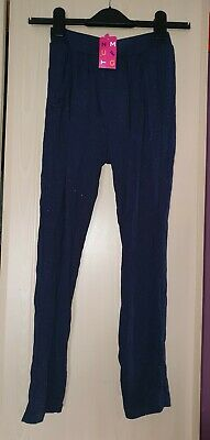 bnwt girls sparkly trousers age 9-10 years from nutmeg