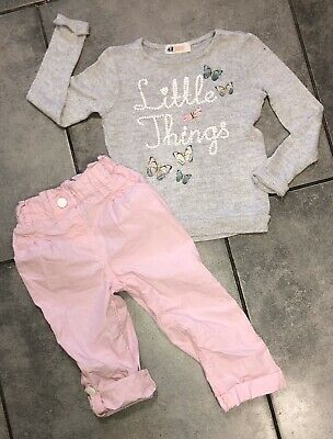 H&M... George Girls Outfit 2-3 Y Butterfly