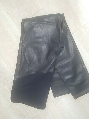 H&M Mama maternity over bump leather look leggings/trousers Size 16US - Black