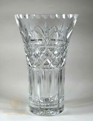 Large Fine Quality Antique Victorian Crystal Cut Glass Vase