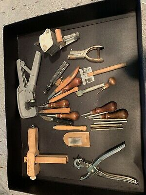 Large Lot Leather Working Tools and Accessories  Stamps and More