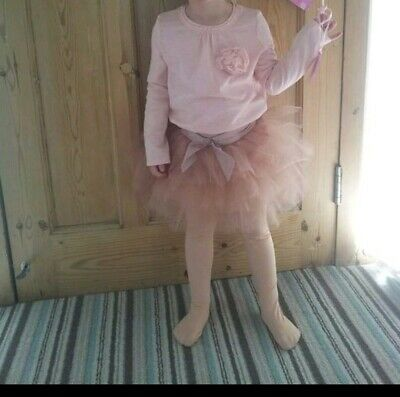 NEXT ~Stunning Girl's Blush Pink Tutu Skirt with matching long sleeved top 3/4 Y
