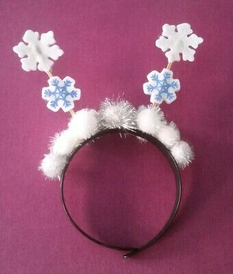 "Brand New handmade snowflake fascinator  ""headband"" concerts~jumper day ect"