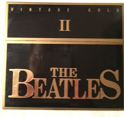 THE BEATLES Vintage Gold II JAPAN 24k GOLD CD 35DN-152  Case thick Booklet