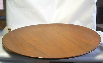 A Signed Vintage Mid Century Turned Wood Tray Z55