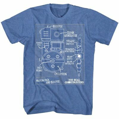 The Real Ghostbusters - Blueprints - American Classics - Adult T-Shirt