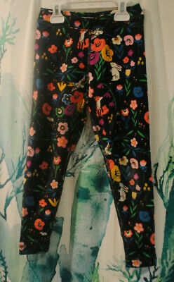 NWT Hanna Andersson Midnight Garden Floral French Terry Leggings 90 100 US 3T 4T