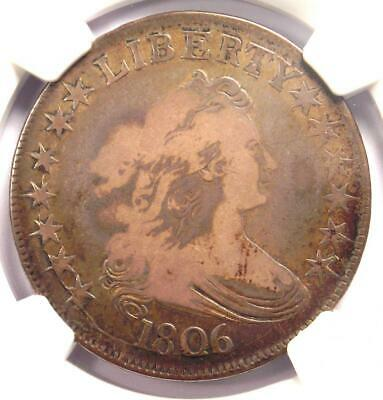 1806 Draped Bust Half Dollar 50C Coin - Certified NGC VG10 - Rare Coin!