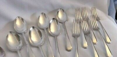 WM Rogers & Son AA Silverplate Lincoln Pattern Pat. August 21,1917 18 Pieces