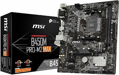 MSI ProSeries AMD Ryzen 1st and 2ND Gen AM4 M.2  Motherboard (B450M PRO-M2 Max)
