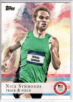 2012 TOPPS OLYMPIC NICK SYMMONDS GOLD TRACK /& FIELD CARD #5 ~ MULTIPLES