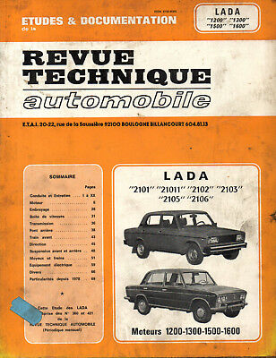 RTA revue technique l'expert automobile LADA 2101 21011 2102 2103 2105 2106