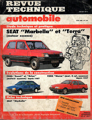 RTA revue technique automobile N° 516 SEAT MARBELLA TERRA
