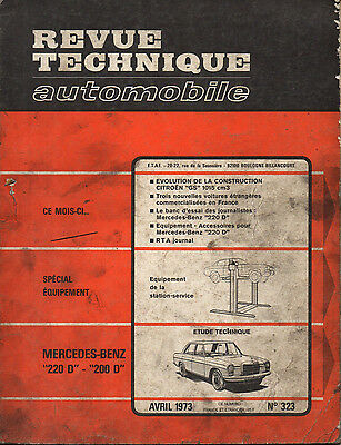 RTA revue technique automobile N° 323 MERCEDES BENZ 200 220 D