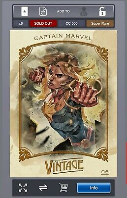 Topps Marvel Collect Vintage Series 1 Captain Marvel