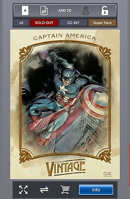 Topps Marvel Collect Vintage Series 1 Captain America