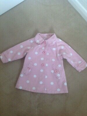 Gorgeous Girls Monsoon 100% Cotton Pink & White Spot Coat - Age 2-3 Years