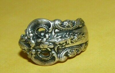 """~Vtg~Antique~Signed~""""Wallace""""~Sterling~Silver~""""Grand Baroque""""~Spoon~Ring~Size~5~"""