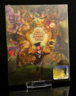 """Alice through the looking glass 3D"" Bluray-Steelbook, Lenticular Slip,Novamedia"