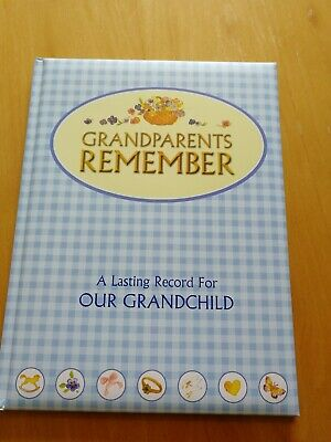 BN grandparents remember book with lots of page for memories for grandchildren