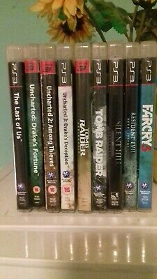 PS3 GAMES BUNDLE (9) including The Last Of Us, Uncharted 1, 2 & 3 Far Cry 3