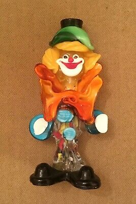 Lovely Vintage Italian Murano Glass Clown