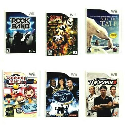Nintendo Wii Games! You Choose from Large Selection! $3.99 Each! Pre-Owned