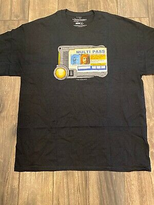 New Fifth Element Leeloo Dallas Multi Pass T Shirt Size XL
